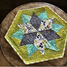 Julie of Jaybird Quilting shows off some Simply Color and Ombre fabric in her Night Sky Quilt  pattern placemats   I am on instagram  dai...