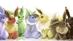 Anime Pokemon  Espeon (Pokémon) Flareon (Pokemon Leafeon (Pokémon) Vaporeon (Pokémon) Jolteon (Pokémon) Eevee (Pokemon) Umbreon (Pokémon) Pokémon Eeveelutions Flareon (Pokémon) Wallpaper