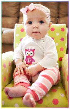 Monthly Baby Onesie Stickers - ToP SeLLeR - Cutest Owl Girls in Town - 13 Stickers (Just Born Included) - Baby Onesie Stickers. $9.99, via Etsy.