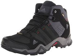 adidas Outdoor Men's Ax2 Mid Gore-Tex Hiking Boot, Dark Shale/Black/Light  Scarlet, 11 M US