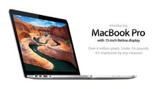 Apple Officially Released MacBook Pro 13-inch With Retina Display - It very slim then previous version and featured astonishing high resolution. Price starts from $1699. Its new MacBook Pro 13-inch retina display. [Click on Image Or Source on Top to See Full News]