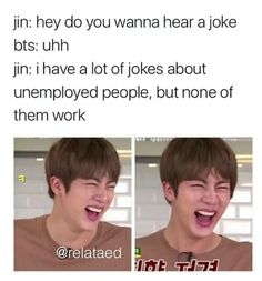 An ARMY looking for a whole bunch of crazy BTS memes in one place waiting to be read? Well then this book is just for you:) Just a compilation of various craz. Bad Dad Jokes, Army Look, Great Jokes, Best Puns, Short Jokes, Bts Memes Hilarious, Hoseok, Seokjin, Namjoon