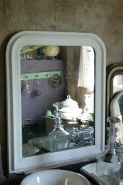 Oude Franse spiegel - bikkel brocante