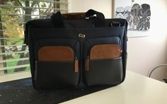 Sag Harbor briefcase brings a fresh new look to a classic design.  I spend a lot of my time traveling between places and I always have reason to carry a laptop bag with me. I either