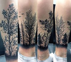 Forarm Tattoos, Bike Tattoos, Wolf Tattoos, Nature Tattoos, Leg Tattoos, Black Tattoos, Tattoos For Guys, Tree Sleeve Tattoo, Tattoo Sleeve Designs