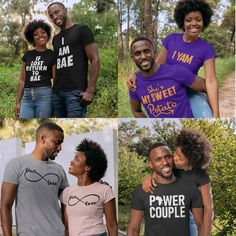 Happy Black, Black Love, Black Is Beautiful, Create T Shirt, Love Days, Love Couple, T Shirts For Women, Couples, Instagram