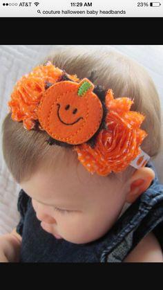Items similar to Halloween baby headband ~ Baby girl halloween headband ~ Baby pumpkin headband ~ Black orange headband on Etsy Halloween Headband, Baby Girl Halloween, Newborn Headbands, Baby Girl Headbands, Felt Hair Accessories, Wedding Accessories, Homemade Headbands, Baby In Pumpkin, Bandeau
