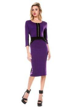 Stanzino Women's 3/4 Sleeve Casual Short Dress