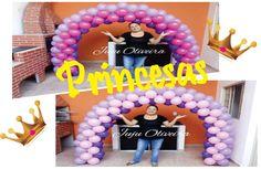 Como fazer Arco de Balões das  Princesas