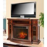 Electric Media Fireplace with Rotating Firebox