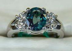 Platinum & Faceted Alexandrite ring