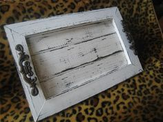 Image detail for -Copious: White Distressed Decorative / Serving Tray - Repurposed Wood