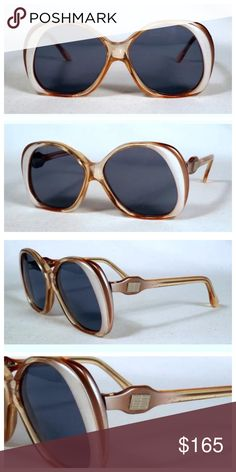 """Vintage Pucci Sunglasses, Absolute Perfection! FIRM PRICE                                  Vintage Pucci Sunglasses!!   --Absolute Perfection--  EXCELLENT condition, no flaws to note.Might have never been worn.   5"""" Wide x 2.25"""" top to bottom  Inner Arm Right:  Emilio Pucci 314 777  Inner Arm Left: 52 18 Emilio Pucci   Emilio Pucci Accessories Sunglasses"""