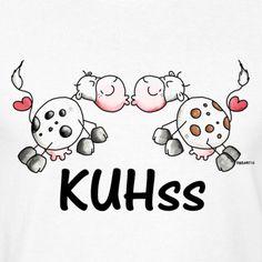 KUHss - Kuh - Kuss - Liebe T-Shirts - Männer Retro-T-Shirt