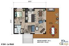 Plans - Plans Design Plan Chalet, Devon House, Plan Design, 2nd Floor, Powder Room, Facade, Floor Plans, Construction, Ceiling