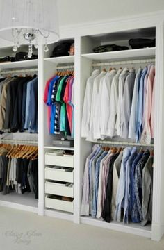 Trendy ikea pax closet system built ins Ideas Ikea Pax Closet, Ikea Pax Wardrobe, Closet Hacks, Wardrobe Closet, Closet Storage, Closet Ideas, Closet Organization, Closet Wall, Wardrobe Ideas