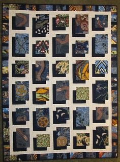 Looking for quilting project inspiration? Check out Batik Shadow Box Quilt by member Batik Quilts, Scrappy Quilts, Easy Quilts, 3d Quilts, Shirt Quilts, Fabric Panel Quilts, Mini Quilts, Big Block Quilts, Quilt Blocks