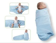 Miracle Blanket  Helps Ease Fussiness For ANY Baby! Aids In Preventing Facial Scratches! NO VELCRO, buttons or snaps. Helps Babies Sleep Better On Their Backs! Two layers of swaddle to keep newborns and infants swaddled all night  I went through three other brands but this was the best solution!