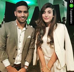 Urwa with Zaid Ali Pakistani, Youtubers, Blazer, Celebrities, Coat, How To Make, Hair, Jackets, Fashion