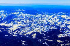 Qdiz Stock Images Rocky Mountain Aerial View,  #above #aerial #air #altitude #background #beautiful #blue #cloud #color #day #flight #fly #high #horizon #landscape #mountain #nature #over #peak #rocky #scenic #sky #snow #top #Travel #view #white #winter