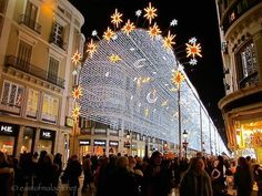 Marianne Elizabeth won our photography competition with this wonderful entry of the Christmas lights in Malaga....