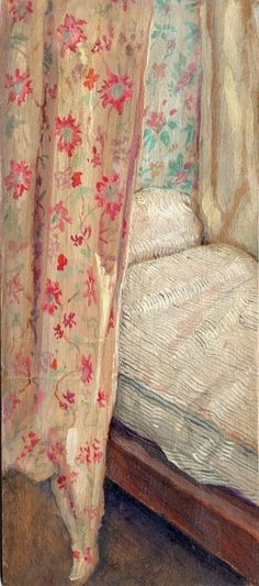 stilllifequickheart:  Alec Cobbe Turner's Bed Hung with Old Curtains from the Petworth Attic 21st century
