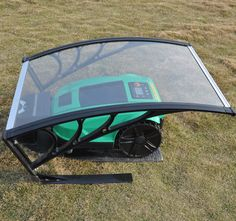 Robotic Mower G400 with Weather Shelter Cover.