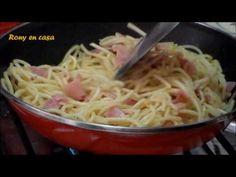 Receta facil de ESPAGUETI BLANCO CON CREMA - YouTube