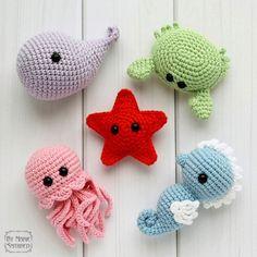 Морские обитатели игрушки крючком