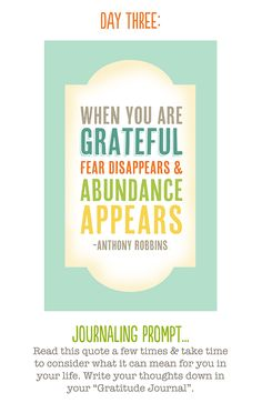 Gratitude. Like the quote. I've taken up keeping a gratitude journal again. It's easy to lose focus sometimes.
