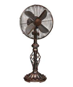 DecoBreeze Brown Prestige Rustica Table Fan