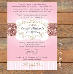 Sweet Princess Glitter Birthday Printable
