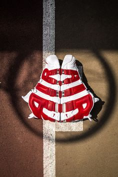 The Nike Air More Uptempo Releases In Gym Red