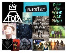 """Fall Out Boy Collage"" by fangirlcertified786 on Polyvore"