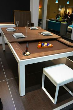 Architonic Live in Paris: Maison&Objet Part 3 Architonic Live in Paris: Home & Object Part 3 Dining Room Pool Table, Dining Table Design, Pool Tables, Game Room Decor, Room Setup, Salons Cosy, Game Room Basement, Gamer Room, Home Furniture