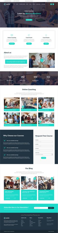 Coacher is clean and modern design responsive #WordPress theme for #trainers and life #coaching services website click on the image to download.