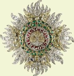 The Star of the Order of the Bath (a diamond/emerald brooch) was commissioned by Queen Victoria in 1838