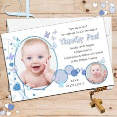 Baby Boy Christening Invitation Designs Baptism And Card For Baptismal Invitation Boy Baptism Invitation For Boys, Christening Invitations Boy, Christening Decorations, Baby Boy Christening, 1st Birthday Invitations, Photo Invitations, Girl Baptism, Invitation Ideas, Christening Cakes