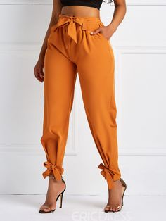Loose Zipper High-Waist Harem Pants Casual Pants Model: Loose Material: Polyester Thickness: Thin Length: Full Length Trousers Shape: Harem Pants Waist Line: High-Waist With Belt: Yes Elasticity: Stretchy Closure Type: Zipper Embellishment: Zipper,Bowknot High Fashion Models, Office Fashion Women, Female Fashion, Classy Outfits, Stylish Outfits, Casual Couture, Balloon Pants, Trousers Women, Skirt Fashion