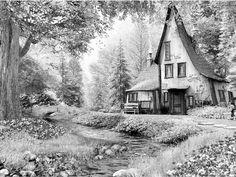 maison de livre de contes (puzzle 6000 pcs)