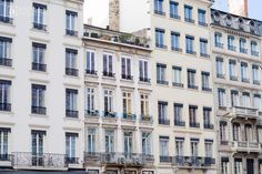 Elegant Old French Apartment Facades from ANNE in FASHION | Wintertime in Lovely Lyon, France ~ Part Four