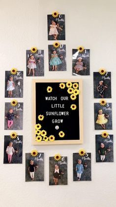 Sunflower theme first year photos for baby's first birthday. Sunflower Birthday Parties, Sunflower Party, 1st Birthday Party For Girls, Girl Birthday Themes, Baby Birthday, Birthday Photos, Girl Themes, Birthday Cakes, Birthday Ideas