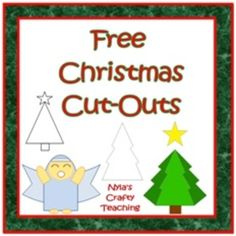 These cut outs can be used as trace-along templates for Scratch Art. Click here to see how I used them with my class to decorate Christmas card...