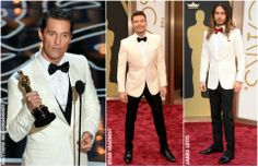 The Oscars 2014 Men Fashion Trends. See who were the best dressed men on the Oscars red carpet 2014 including Brad pitt, Bradley cooper and Michael Jordan.