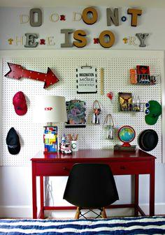 boy's desk area