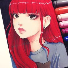 Day 27 ー Red  I miss my long red hair   Hope you all had a nice weekend! ♡