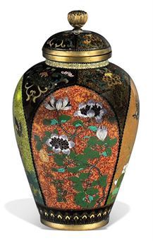 A CLOISONNÉ VASE AND COVER ATTRIBUTED TO THE NAMIKAWA WORKSHOP, MEIJI PERIOD (LATE 19TH CENTURY)http://www.christies.com/