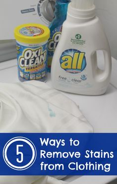 Trying to remove stains from clothing can be a frustrating process. But there are some stain treaters that work better than others depending on what the stain is. Find out 5 Ways to remove stains from clothing!