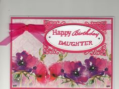 Hunkydory background card, radiant rectangles by spellbinders and tattered lace sentiments. Card by Sue Elvin
