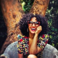 Tracee Ellis Ross. This pic really captures her energy. Seems like a fun chic with fun hair!